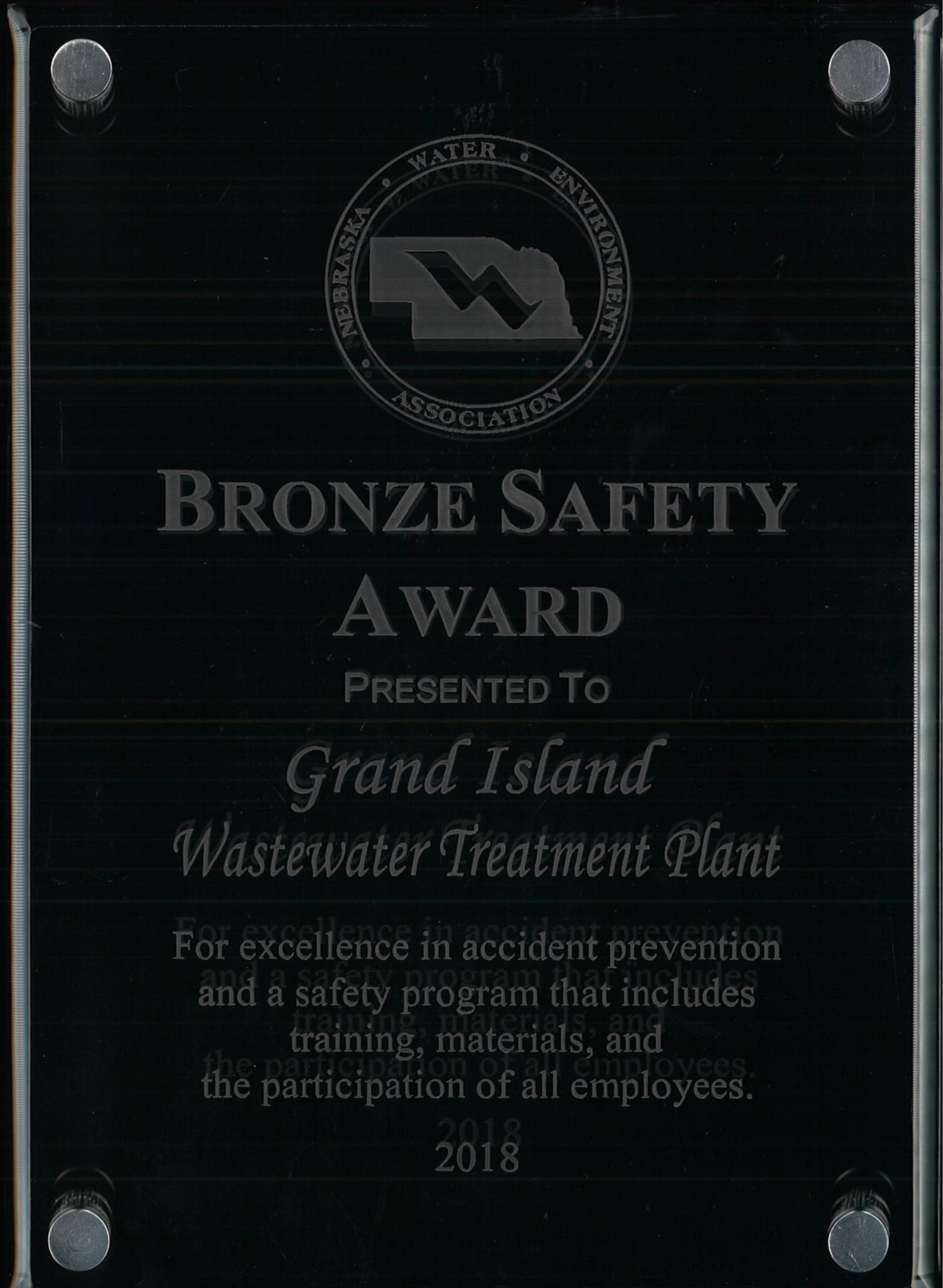 Bronze Safety Award