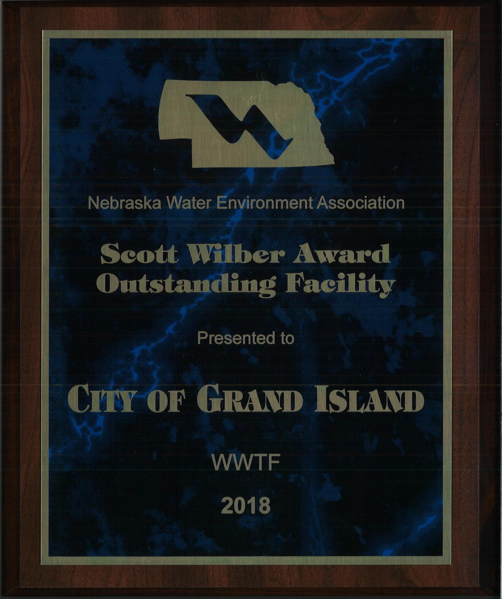 Scott Wilber Award Outstanding Facility