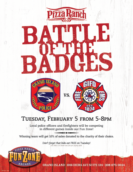 Battle of the Badges - Pizza Ranch