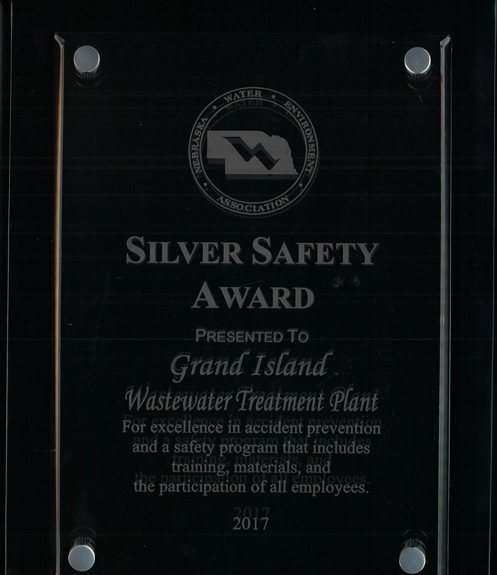 SILVER SAFETY AWARD 2017